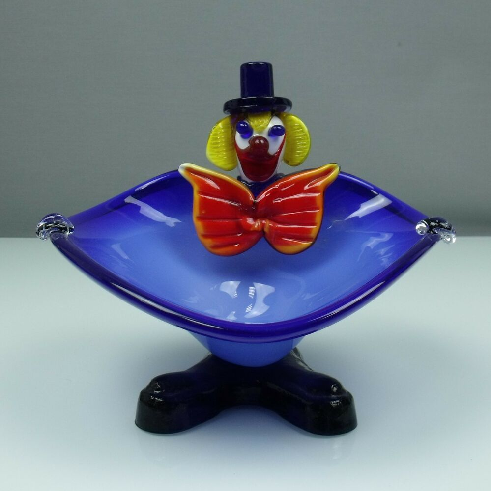 murano glas figur schale clown ca b 23cm x h 21 5 gewicht ca 1450 g ebay. Black Bedroom Furniture Sets. Home Design Ideas