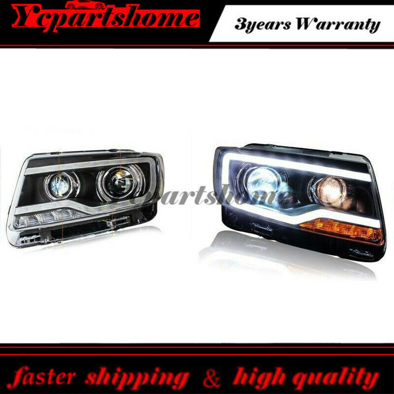 1pair for 2011 2013 jeep compass headlight with bi xenon. Black Bedroom Furniture Sets. Home Design Ideas