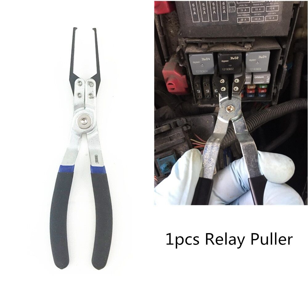 Electrical Relay Puller Fuse Extractor Car Relay Remover Pliers Mechanic Tool 1x 4814554712342
