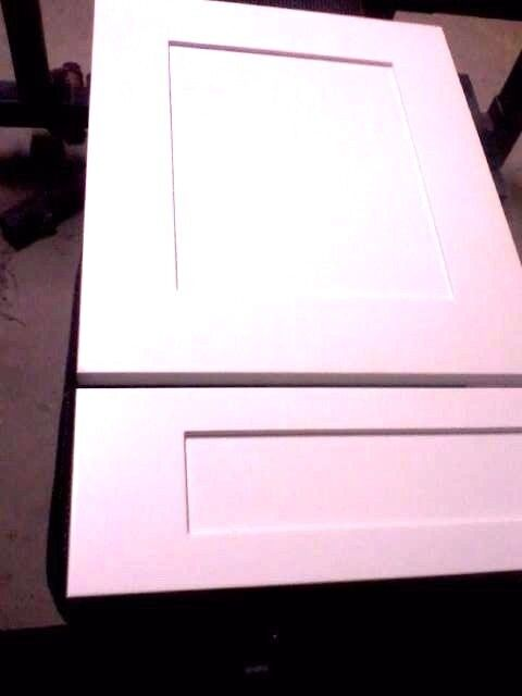 White Finished Custom Made Sizes Mdf Shaker Doors And