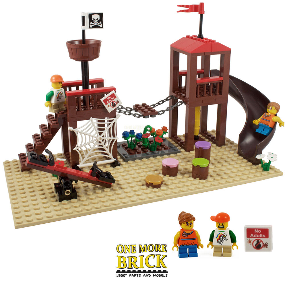 Lego adventure playground park custom model all new for Modele maison lego duplo