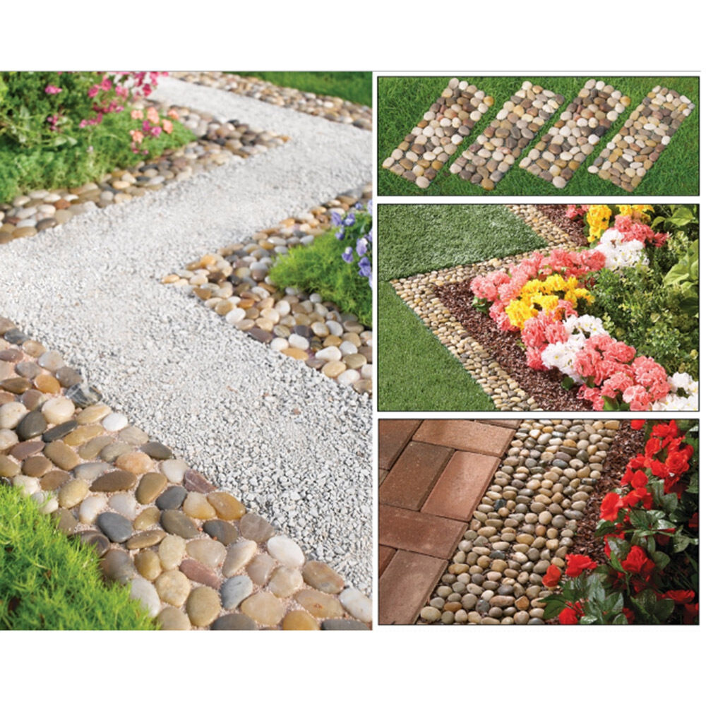 Stone For The Garden: Outdoor Stepping Stones 4P Walkway Decoration Garden