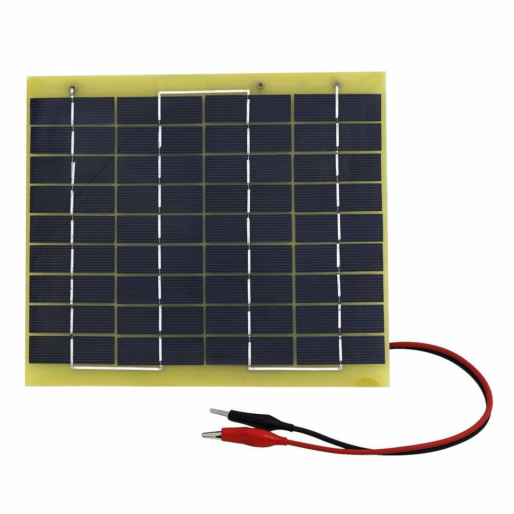 5W 12V Solar Panel High EffIciency Battery Charger For