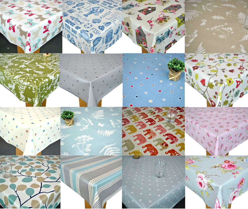 Clarke Amp Clarke Pvc Cotton Oilcloth Wipe Clean Tablecloth