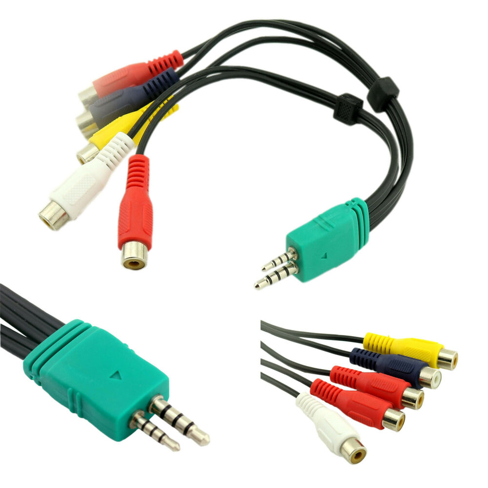 Audio Video Av Component Adapter Cable For Samsung Led Tv