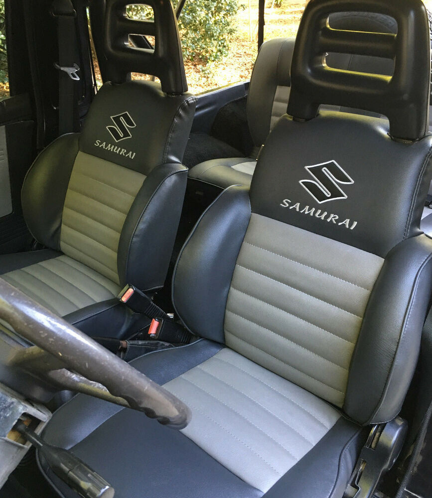 1986 1995 suzuki samurai front rear seats covers ebay. Black Bedroom Furniture Sets. Home Design Ideas