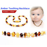 Baltic Teething Necklace for Baby - Simple Package - 3 Sizes - 4 Colors
