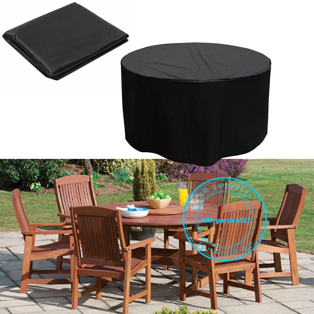 Large Storage Patio Furniture Cover Heavy Duty Round Table Set