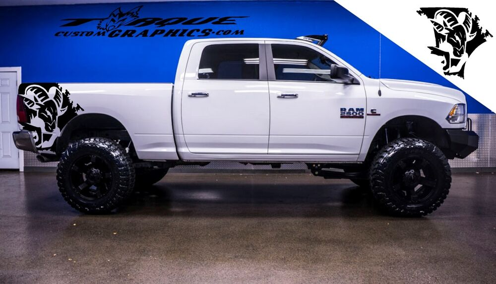 Ram Head Bed Graphics Vinyl Decal Sets For Dodge Ram