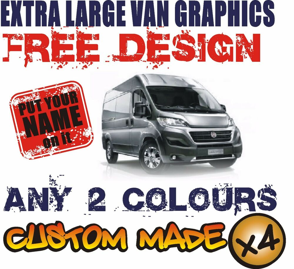 Extra large van custom vehicle graphics sign writing kit decals stickers ebay