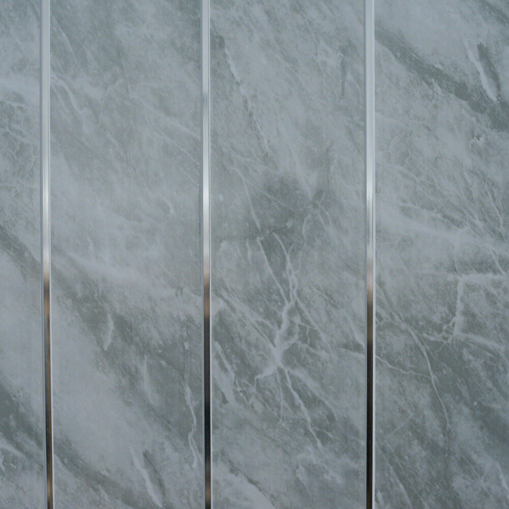 Grey Marble Amp Chrome Bathroom Cladding Panels Pvc Kitchen