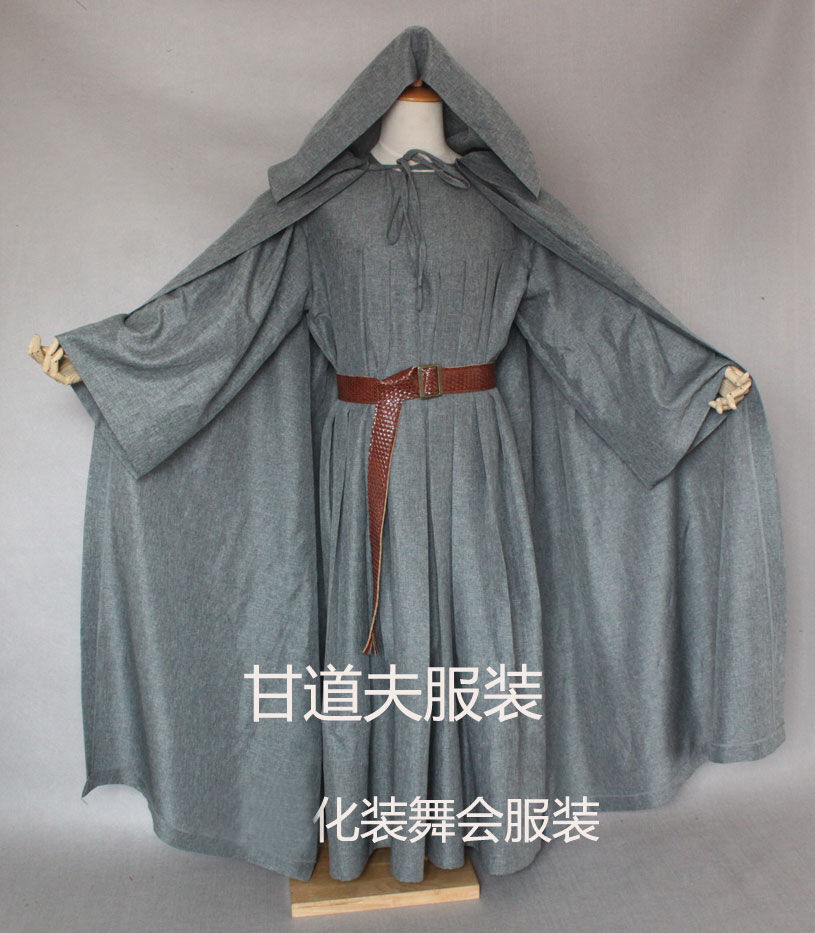 Robe And Wizard Hat: Lord Of The Rings Gandalf Cosplay Costume Robe The Hobbit