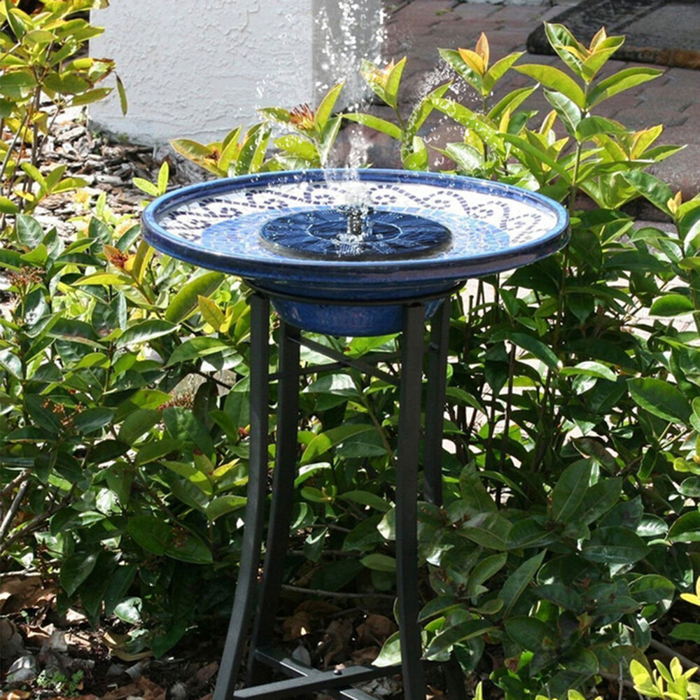 Floating solar powered pond garden water pump fountain for Pump water from pond to garden