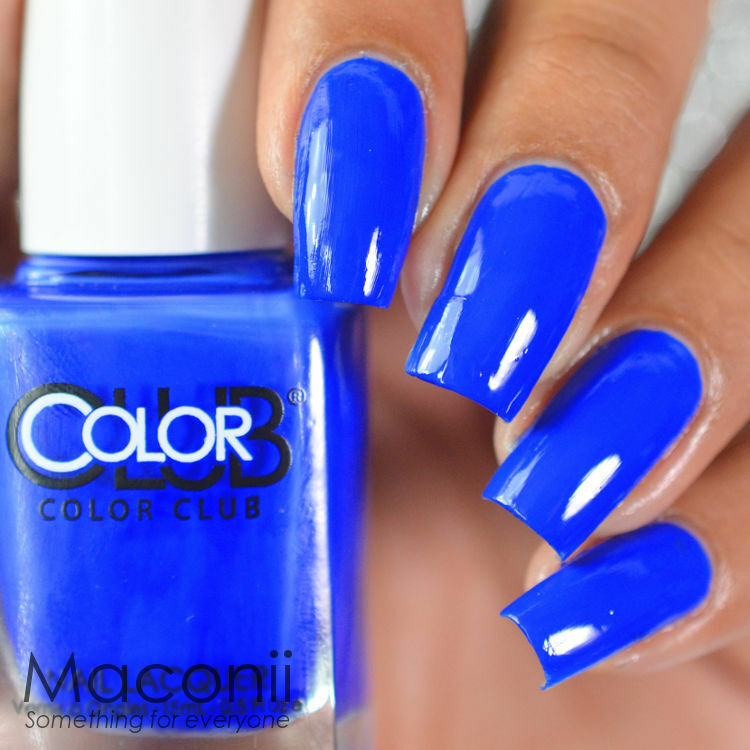 Bright Electric Blue Nail