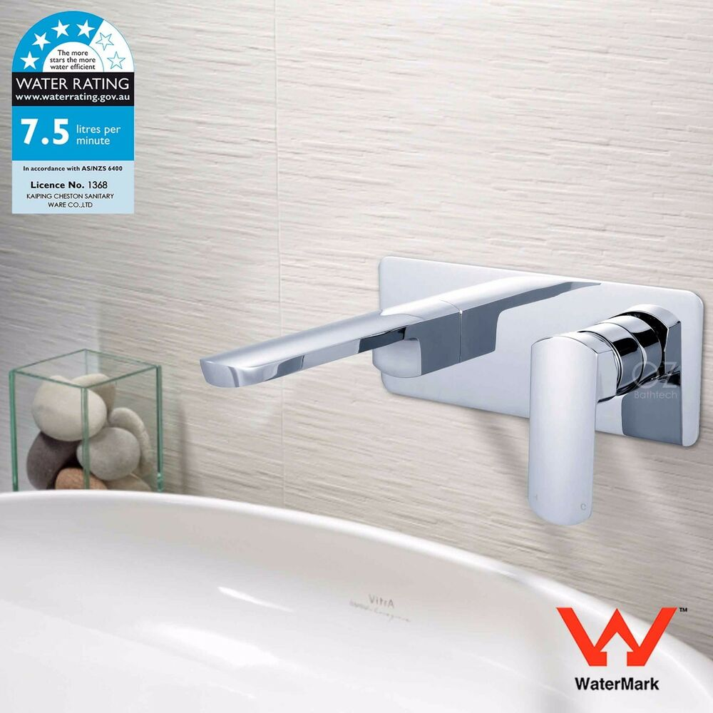Chrome Single Lever Basin Mixer Concealed Installation Wall Mount ...