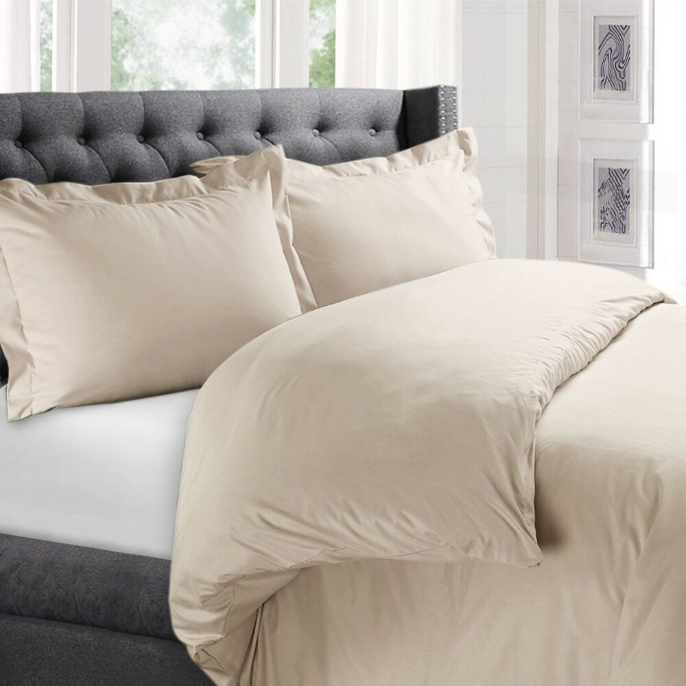 1800 Collection 3 Piece Duvet Cover Set For Comforter Ebay