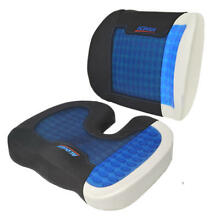 ACDelco Orthopedic Cooling Gel Therapy Memory Foam Lumbar + Coccyx Seat Cushion