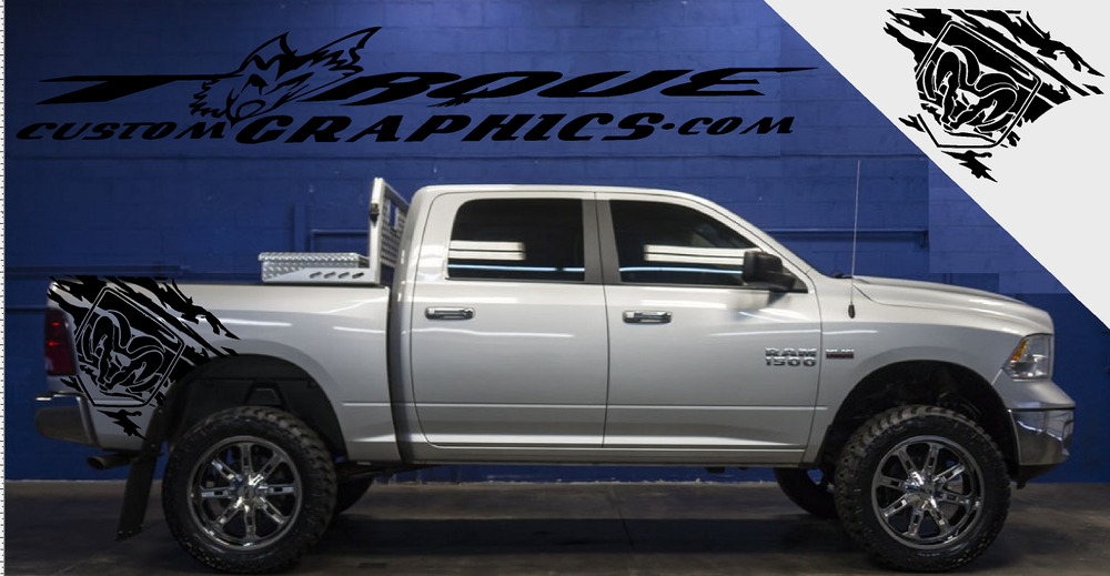 Ram Tough Bed Graphics Vinyl Decal Sets For Dodge Ram