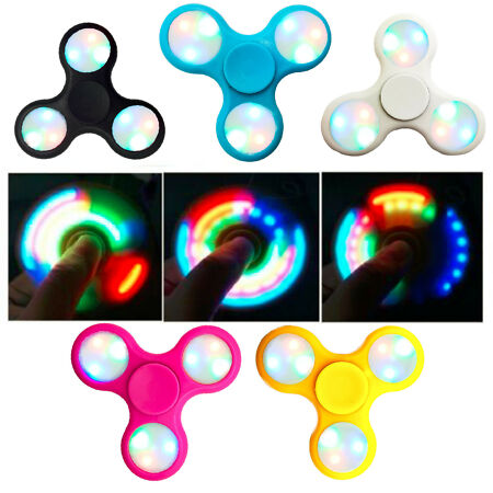img-LED Light Flash Fidget Hand Finger Spinner Ultimate Spin Toys UK SELLER