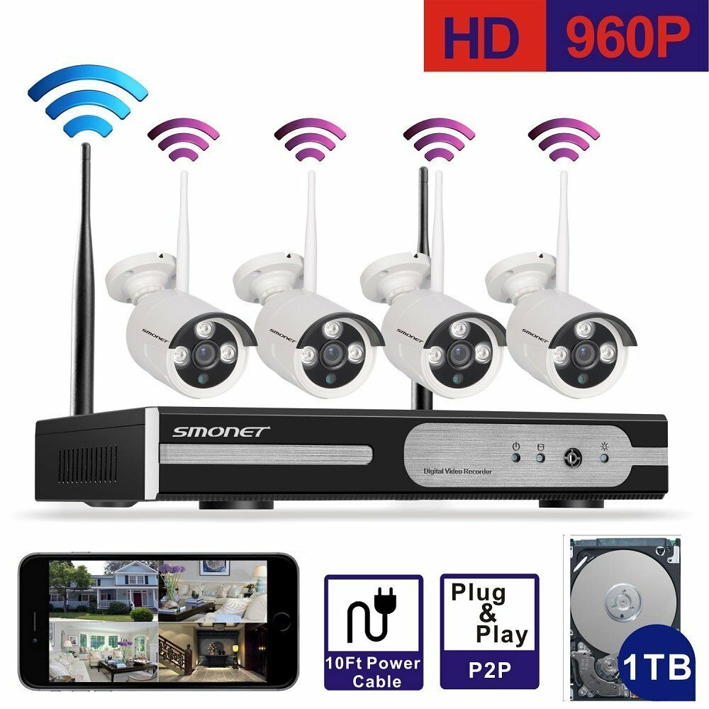 outdoor 4ch hd 960p wireless surveillance ip camera home security 1tb nvr system ebay. Black Bedroom Furniture Sets. Home Design Ideas