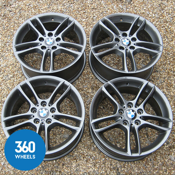 "GENUINE BMW 1 SERIES 18"" 261 DUAL SPOKE FERRIC GREY ALLOY"