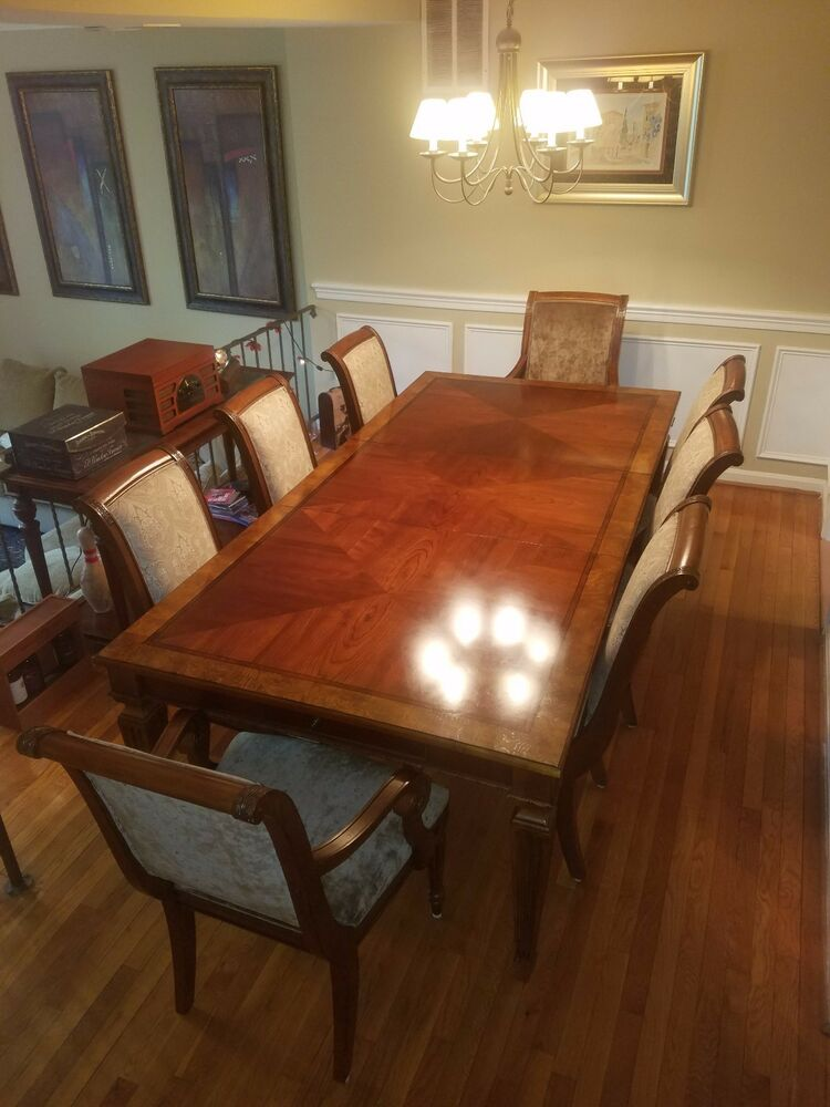 Excellent Quality Ethan Allen Goodwin Dining Room Table Ebay