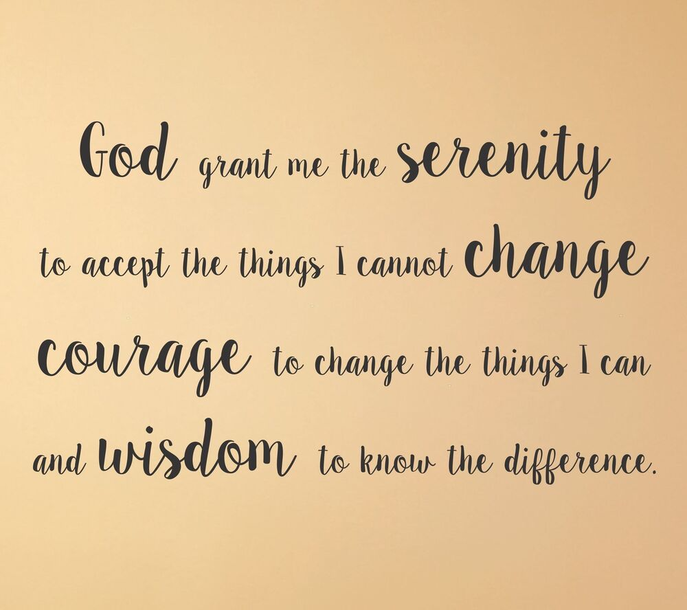 Serenity Prayer wall decal quote mural religious decor words god ...