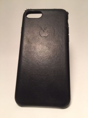 Used #123 No Box Apple Leather Case iPhone 7  Midnight Blue Leather MMY32ZM/A