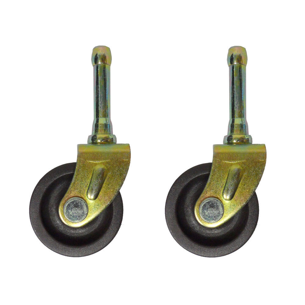 SET OF (2) BED FRAME CASTER WHEELS WITH SOCKET INSERTS | eBay