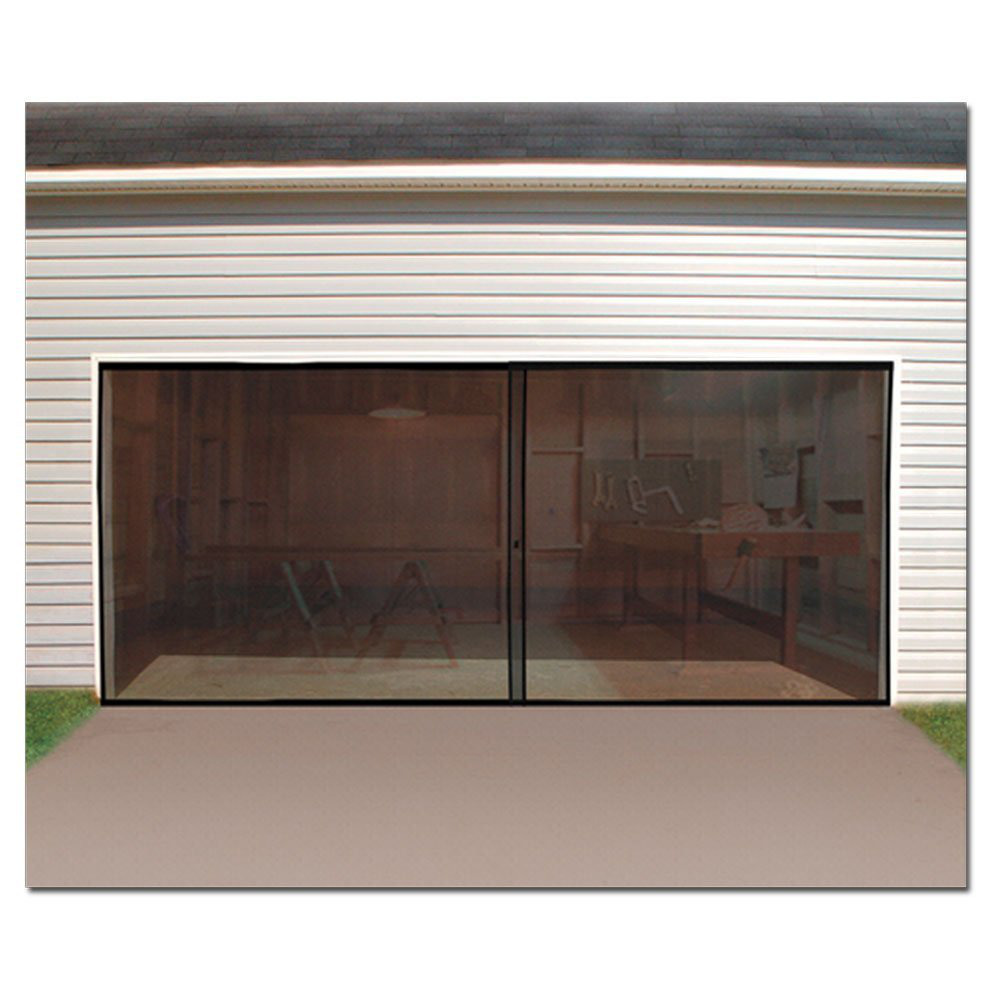 Double Garage Door Screen Magnetic Closure Mosquito Net Insects Bugs Mesh  Fly 691044508036 | EBay
