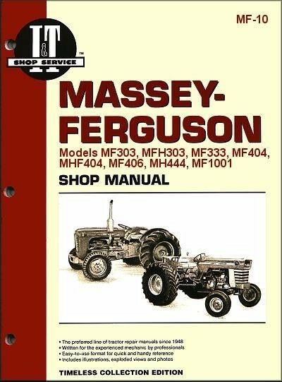 details about massey ferguson mf303 mfh303 mh333 mf404 tractor service  repair workshop manual