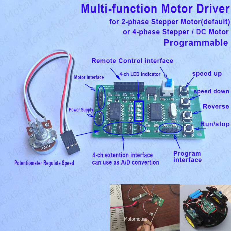 Multi-function Programmable 2 phase 4 wire Stepper Motor Driver ...