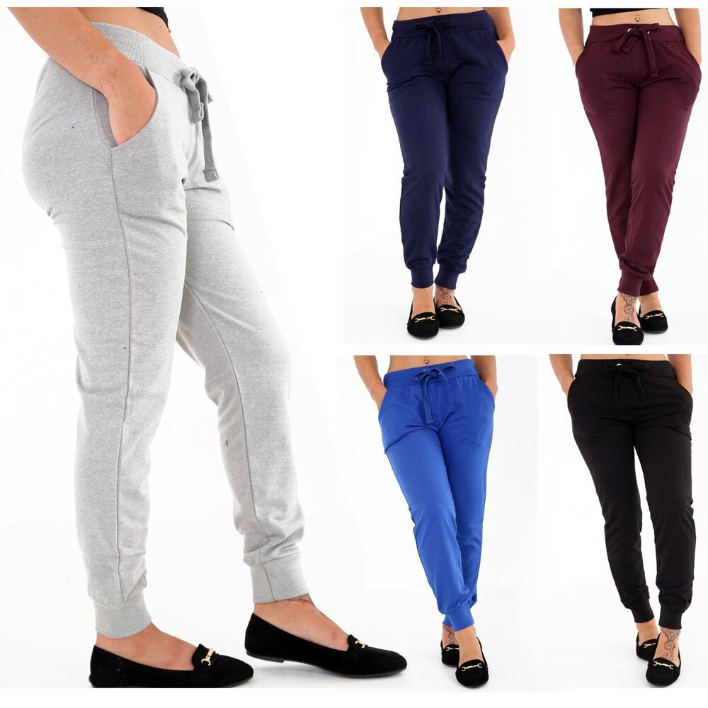 2fcb84b47415 Details about Ladies Tracksuit Bottoms Womens Joggers Trousers Jogging Gym  Pants Lounge Wear