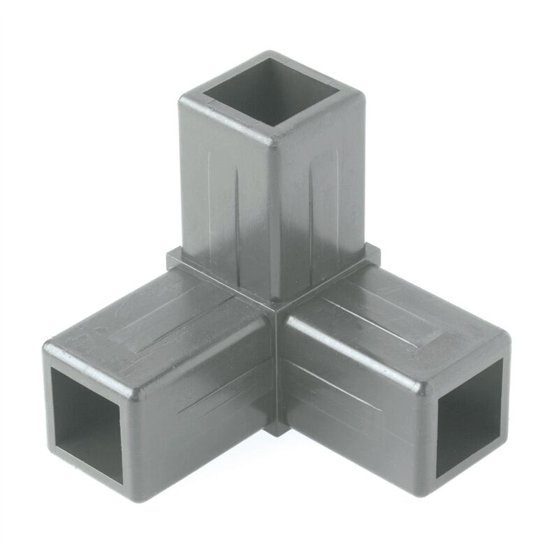 Aluminium square tube way corner nylon
