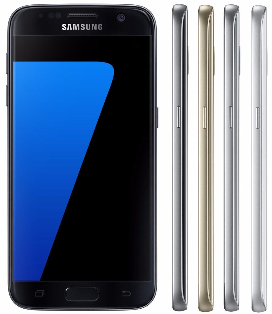 samsung galaxy s7 g930t 32gb t mobile metro pcs 4g lte smartphone black gold ebay. Black Bedroom Furniture Sets. Home Design Ideas