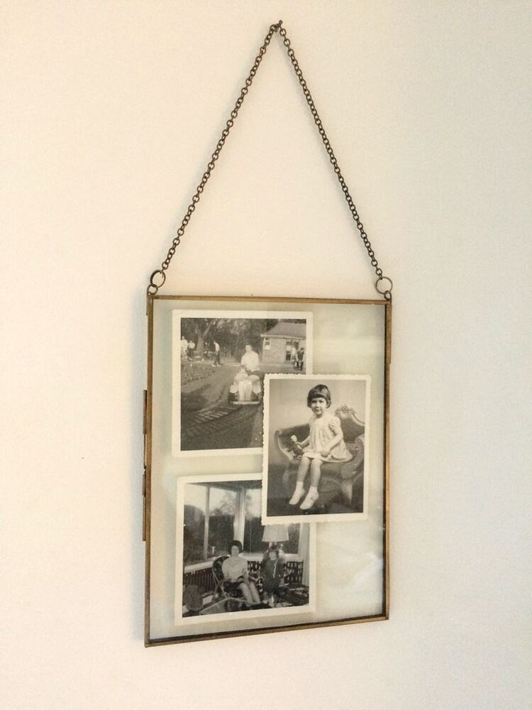 antique brass picture photo frame glass metal portrait industrial vintage style ebay. Black Bedroom Furniture Sets. Home Design Ideas