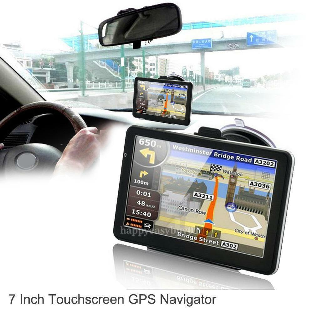 Gps Systems For Automobiles : Quot hd touch portable truck car gps navigator navigation