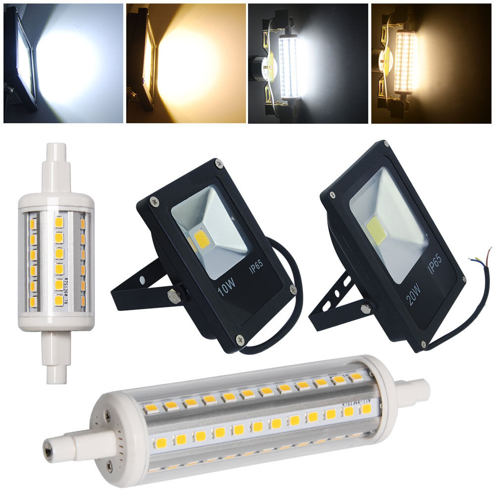 5w 10w 20w r7s j78 j118 led security flood light bulb outdoor floodlight lamp ebay. Black Bedroom Furniture Sets. Home Design Ideas