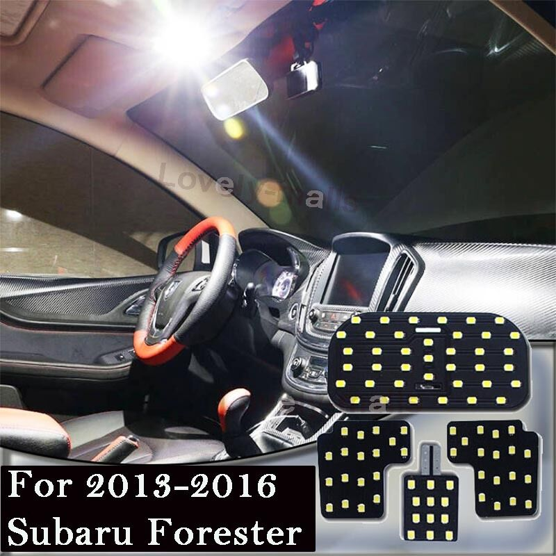 Details About 87 Smd White Led Interior Map Dome Lights Package For 2017 2016 Subaru Forester