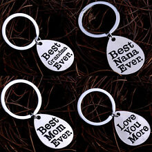Family Love Grandma Father Mother Keyring Mom Dad Keychain Gifts Charm Jewelry