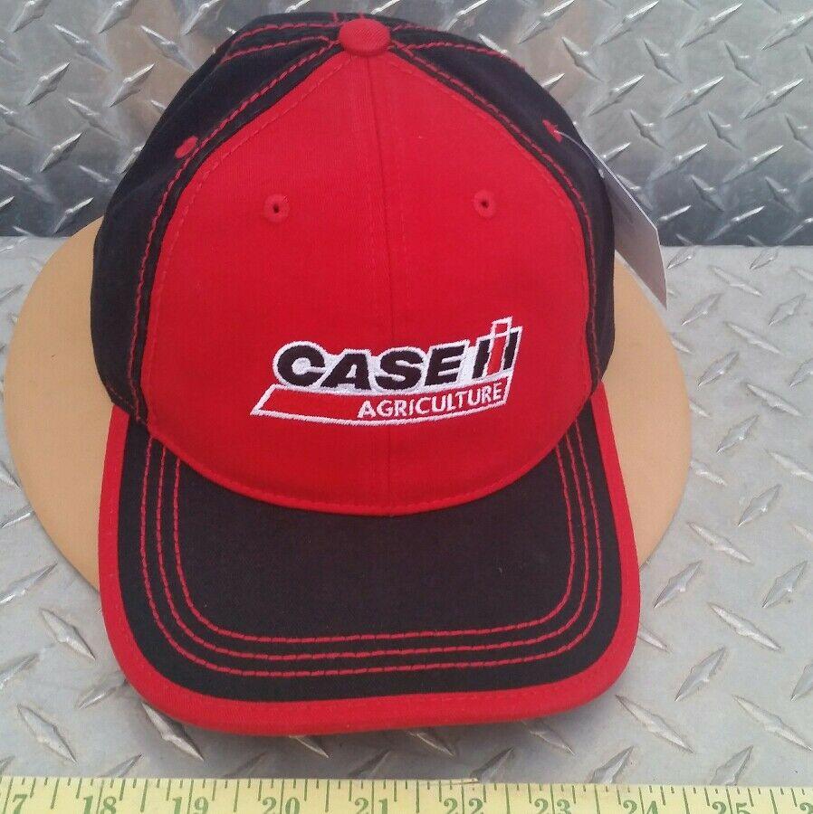 798a48b93f73b Details about Case IH tractors Red   black Chino twill Cap Contrast trucker  Hat cap very nice