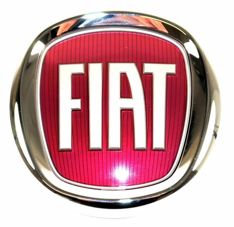 fiat 500 500l front grille bumper badge red logo emblem. Black Bedroom Furniture Sets. Home Design Ideas