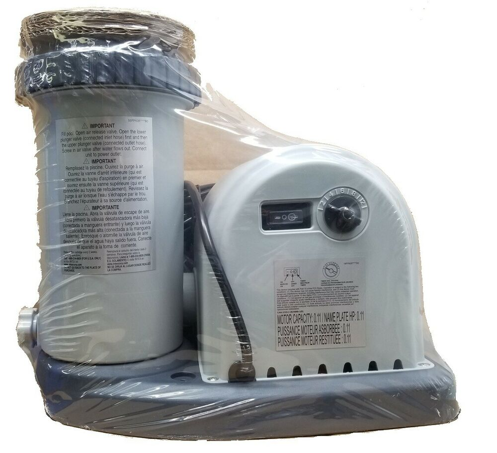 Intex Krystal Clear 1500 Cartridge Filter Pump Only Above Ground Swimming Pool Ebay