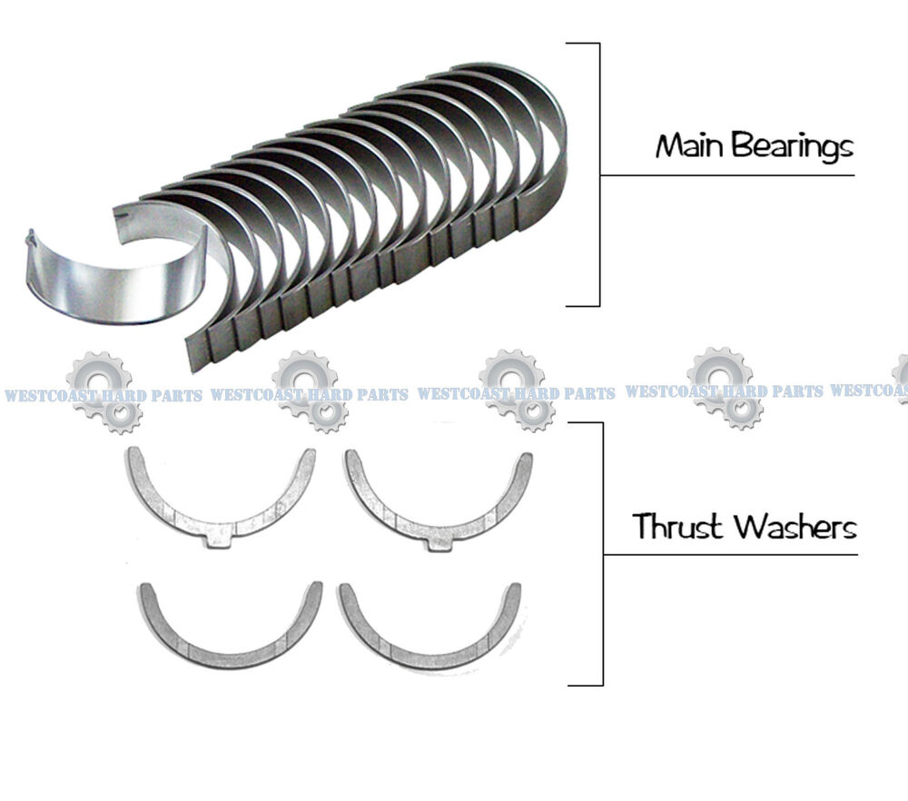 details about 92-93 toyota camry 3 0l 3vzfe dohc 24v full main engine  bearings set