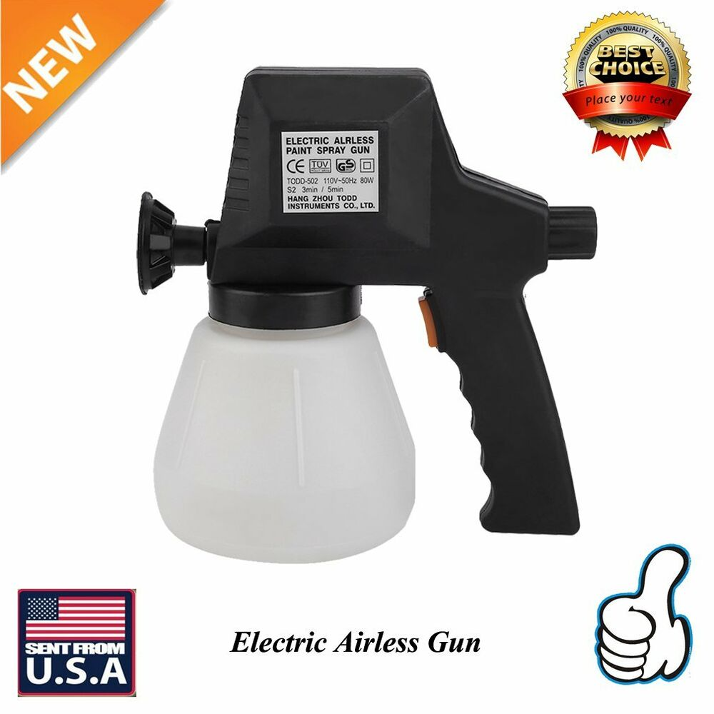 New Electric Airless Air Less Paint Gun Sprayer House Fence Room Painting Spray Ebay