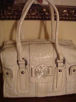 NWT GUESS SOLO WHITE BOX SATCHEL HANDBAG 100% AUTHENTIC