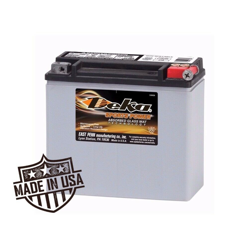 deka power sports etx20l battery harley davidson 65989. Black Bedroom Furniture Sets. Home Design Ideas