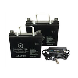 12V 35AH Wheelchair AGM U1 Battery and Charger Kit w/1 Year Warranty