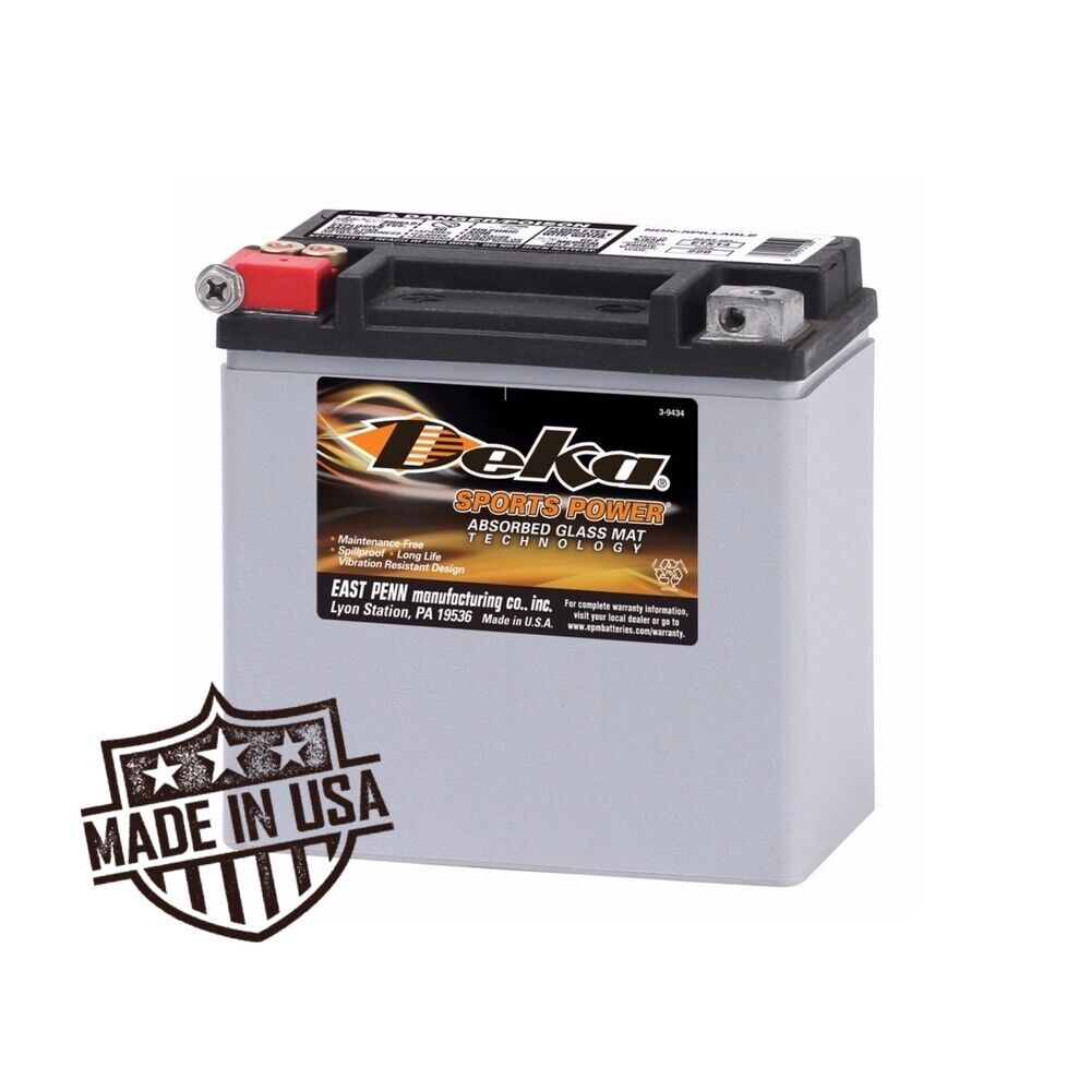 Harley Davidson Battery >> Deka Etx14 Battery Replacement Also Replaces Harley Davidson 65958