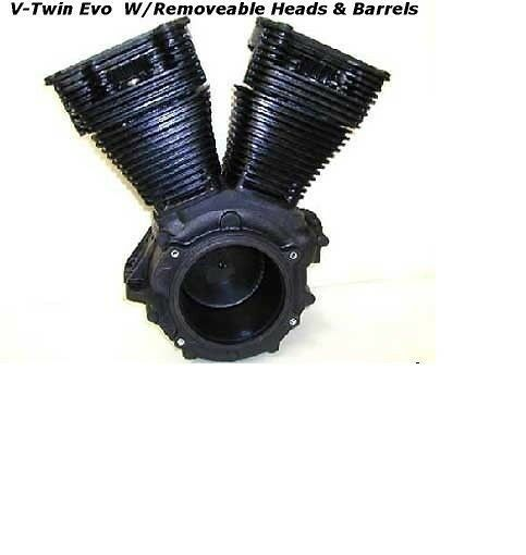 V Twin Quad Engine: Harley Davidson HD V-Twin Evo Set Up Motorcycle Engine